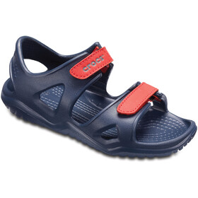 Crocs Swiftwater River Sandals Kids, navy/flame